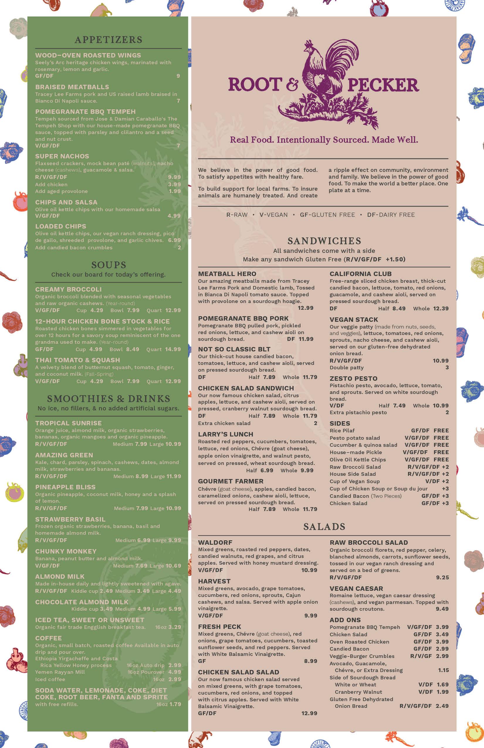 menu design gainesville designer